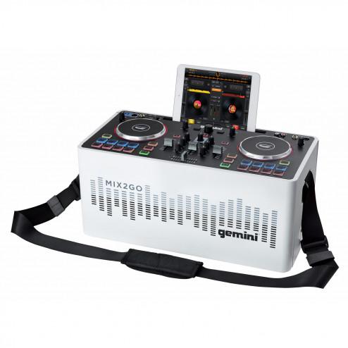 Gemini MIX2GO ΔΩΡΟ ΑΚΟΥΣΤΙΚΟ ολοκληρωμένο DJ set με Bluetooth DJ controller με φωτορυθμικά και ηχείο και μπαταρία