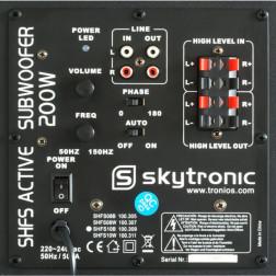 "SkyTronic SHFS10B Ενεργό Subwoofer 10"" black"