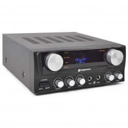SkyTronic Karaoke Amplifier with Display Black