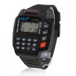 Calculator & Remote Control retro Watch black