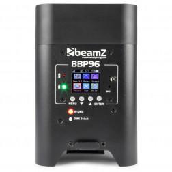 BeamZ BBP96 ασύρματος προβολέας με τηλεχειριστήριο και επαναφορτιζόμενη μπαταρία Battery Par 6x 12W