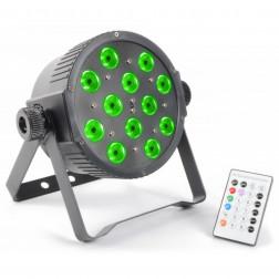 BeamZ ασύρματο FlatPAR 12x 3W Tri-color LEDs DMX IR