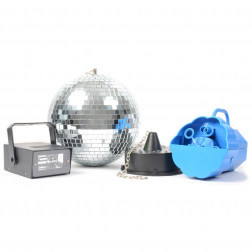 BeamZ	Disco Set IV: Bubble Machine, LED Strobe and Mirror Ball with Motor