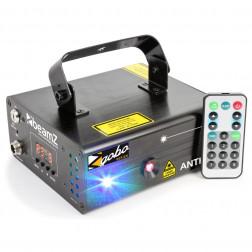 BeamZ Anthe II διπλό λέιζερ 600mW RGB με σχέδια Gobo DMX IRC