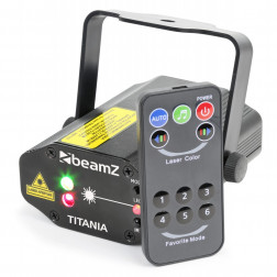 BeamZ Titania Laser δύο αποχρώσεων 200mW RG Gobo IRC