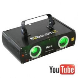 Beamz Hera 2-Way Laser Green 80mW DMX