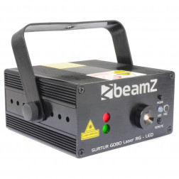 BeamZ Surtur Κόκκινο Πράσινο Gobo Laser με LED + τηλεχειριστήριο