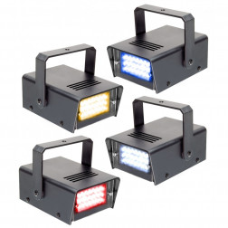 BeamZ Mini Stroboscope LED Set of 4 RYBW