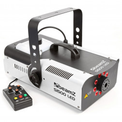 BeamZ S1500LED Μηχανή Καπνού με 9x 3W πολύχρωμα LEDs (κόκκινο, πράσινο, μπλέ) και έλεγχο από DMX