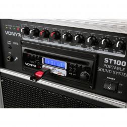 "Vonyx ST100 MK2 Ολοκληρωμένο Φορητό Σύστημα 8"" με BT/CD/MP3/UHF με Mπαταρία και Bluetooth"