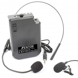 Fenton Ασύρματος Πομπός με Χειλόφωνο και Μικρόφωνο Πέτου VHF Headset 200.175 MHz