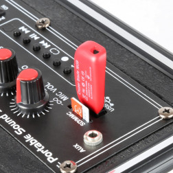 Fenton ST040 φορητό σύστημα ήχου με ενισχυτή 40W και μπαταρία MP3 USB, Bluetooth και ασύρματο μικρόφωνο με /SD/VHF