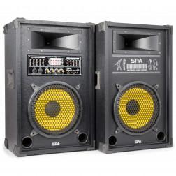 "SkyTec SPA800Y PA Active speakerset 8"" USB SD"
