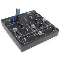 Skytec STM-2250 4-Channel Mixer Sound Effects USB MP3