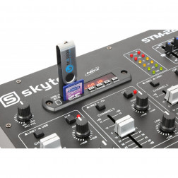 Skytec STM2290 8-Channel Mixer Sound Effects SD/USB/MP3/BT