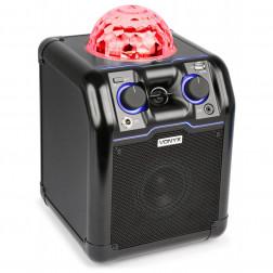 Φορητό Ασύρματο Bluetooth Ηχείο για πάρτυ Vonyx SBS50B με έγχρωμη ντίσκο μπάλα σε μαύρο χρώμα