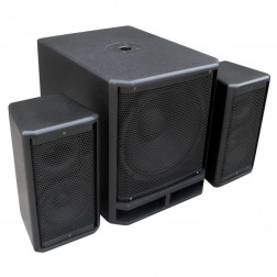 "Power Dynamics	PD Combo 1200 12"" Subwoofer + 2x 6.5"" Satellite speakers"