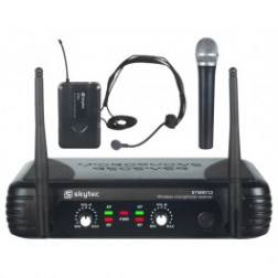 SkyTec STWM722C 2-Channel UHF Wireless Microphone System
