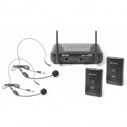 SkyTec STWM712H 2-Channel VHF Wireless Headset Microphone System