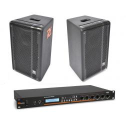 Power Dynamics Ολοκληρωμένο Σέτ Ηχείων και Ενισχυτή για Καφέ Μπάρ με δυνατότητες αναπαραγωγής SD/USB/MP3/BT