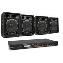 Ολοκληρωμένο Πακέτο με 4 ηχεία και ενισχυτή για Καφέ Μπάρ με δυνατότητες αναπαραγωγής SD/USB/MP3/BT