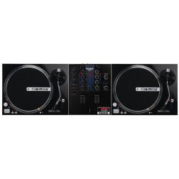 DJ Set πακέτο με Μίκτη 2 Καναλιών Mixars Cut και δύο Πικάπ Ιμάντα Άμεσης Εκκίνησης Reloop RP 2000M