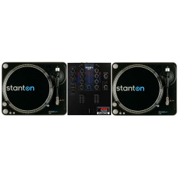 DJ Set πακέτο με Μίκτη 2 Καναλιών Mixars Cut και δύο Πικάπ Ιμάντα Άμεσης Εκκίνησης STANTON T-62B