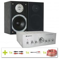 Πλήρες Hi-Fi πακέτο ήχου με Ενισχυτή, Ηχεία και Καλώδια σύνδεσης