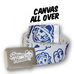 Stereo Panda skate canvas all over print belt