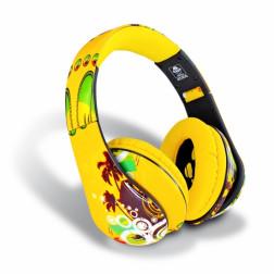 iDance Ibiza 205 ακουστικά σε κίτρινο χρώμα