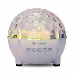 iDance Party Ball BB3 φορητό ασύρματο ηχείο με Bluetooth και φωτισμό LED ντισκομπάλας σε λευκό χρώμα
