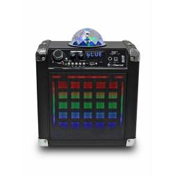 iDance Disco Cube BC20 φορητό ασύρματο ηχοσύστημα με μπαταρία, μικρόφωνο, Bluetooth, USB / SD Mp3, φωτορυθμικά και τηλεχειριστήριο