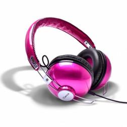 iDance HIPSTER 702 lifestyle retro ακουστικά σε ρόζ χρώμα