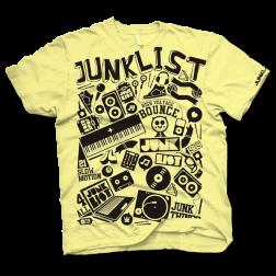 Junklist Elements DJ tshirt lemon