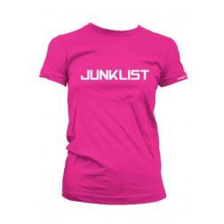 Junklist icon logo female fuchia - white