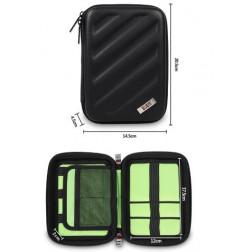 BUBM MXA Portable EVA Hard Drive Case Electronics Accessories Travel Organizer