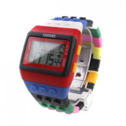 Brick retro Pop colorful blue watch