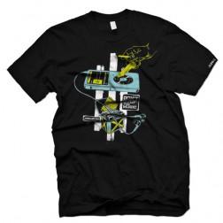Junklist digiscratch t-shirt clubwear dj clothing black