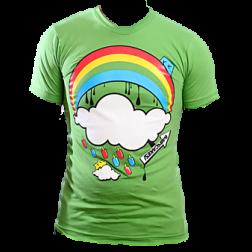 Babycakes Popsicles & Rainbows in green tshirt