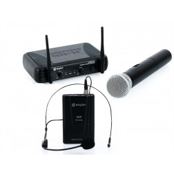 Skytec STWM712C VHF Wireless Microphone Set 2 Channel Headset