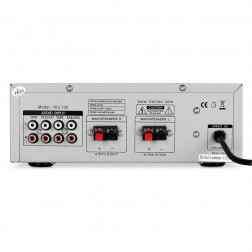 SKYTRONIC 103.100 Compact Hi-Fi Karaoke Ενισχυτής (Inox χρώμα)
