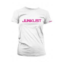 Junklist icon logo female white - fuchia