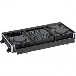 """Flight case for 2 Compact disc and 12"""" and Mixer 12"""""""