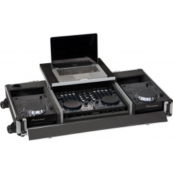 Case for 2 cd players DJ controller Laptop