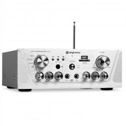 Skytronic Karaoke Amplifier FM/USB/SD Silver