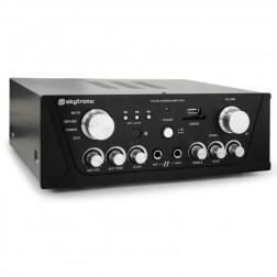Skytronic Compact PA HiFi Stereo Amplifier USB SD MP3