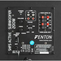 """Fenton SHFS08B αυτοενισχυόμενο subwoofer 8"""" με ισχύ 200W και σύστημα auto standby"""