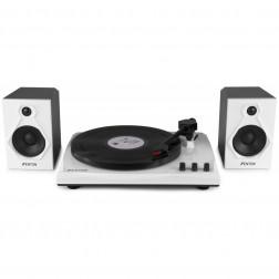 Fenton RP160BW Record Player Set Πικάπ για Δίσκους Βινυλίου με δύο ηχεία ισχύος 50W, ενσωματωμένο ενισχυτή και Bluetooth - B/W