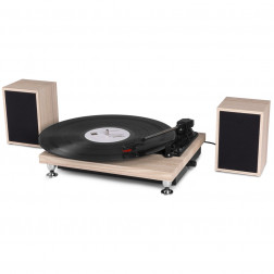 Fenton RP155LW Record Player Set Πικάπ για Δίσκους Βινυλίου με δύο ηχεία 25 Watt και ενσωματωμένο ενισχυτή - Lightwood,