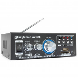 Skytronic AV360 φορητός ενισχυτής με Ραδιόφωνο FM,MP3 USB/SD και τηλεχειριστήριο